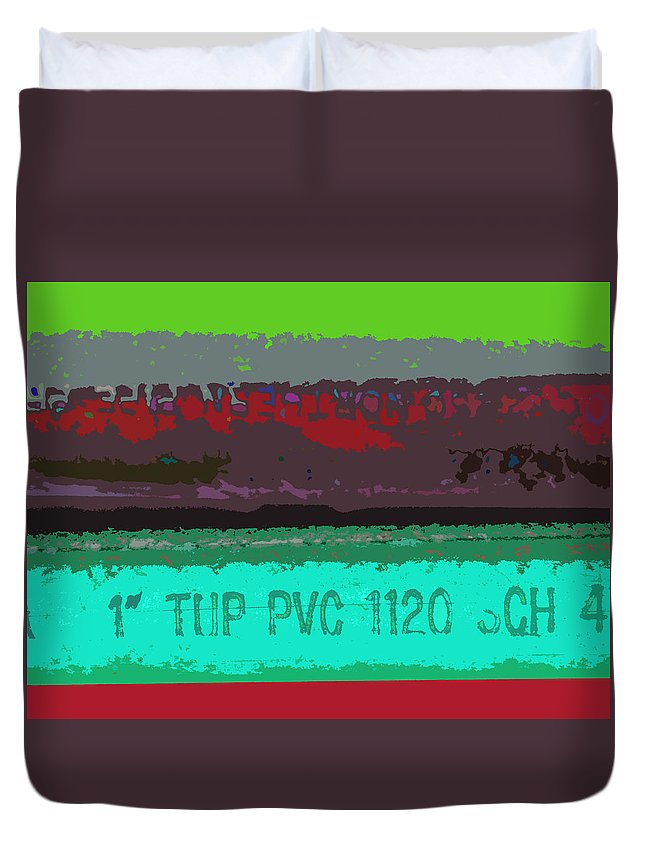 Pipe Duvet Cover featuring the photograph PVC by David Pantuso