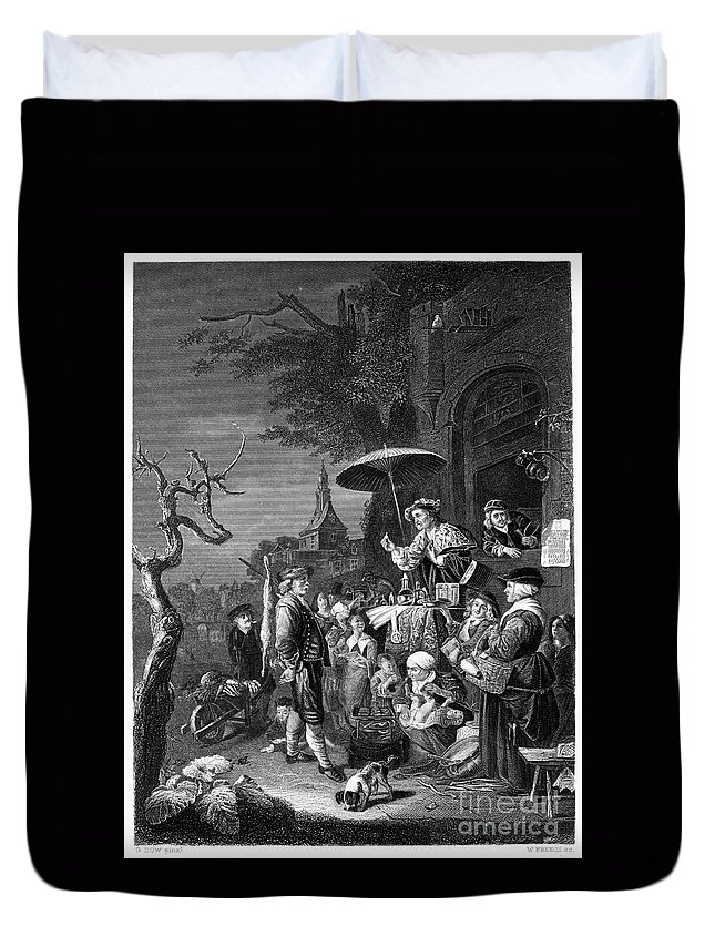 19th Century Duvet Cover featuring the photograph Quack Doctor, 19th Century by Granger