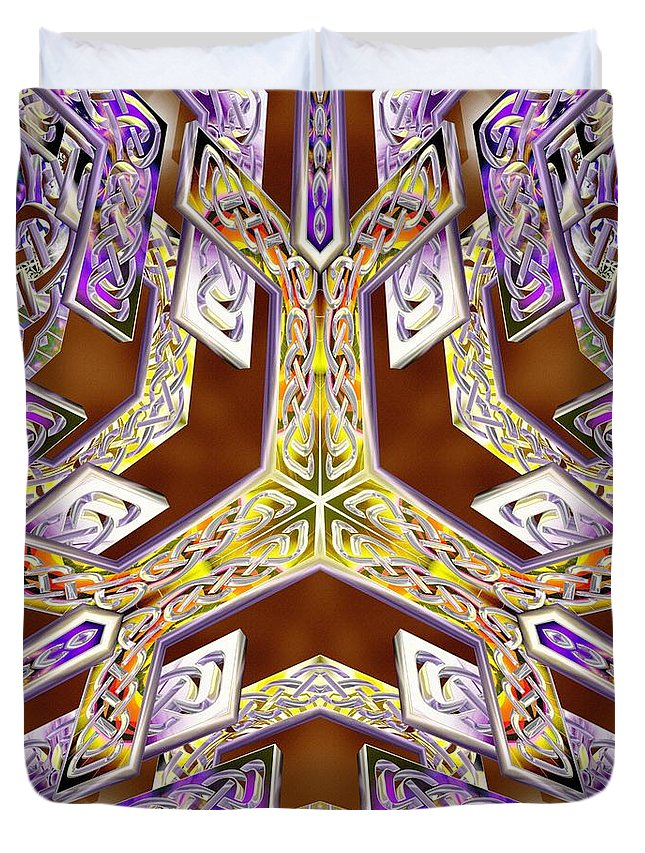 Quantum Legacy Duvet Cover featuring the digital art Quantum Legacy by Derek Gedney