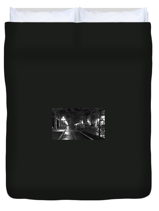 Quebec Duvet Cover featuring the photograph Quebec Night by Steve Archbold