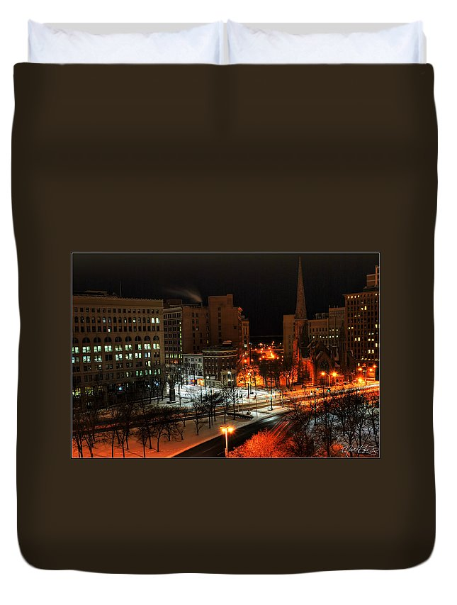 Buffalo Duvet Cover featuring the photograph Queen City Winter Wonderland After The Storm Series 0015 by Michael Frank Jr