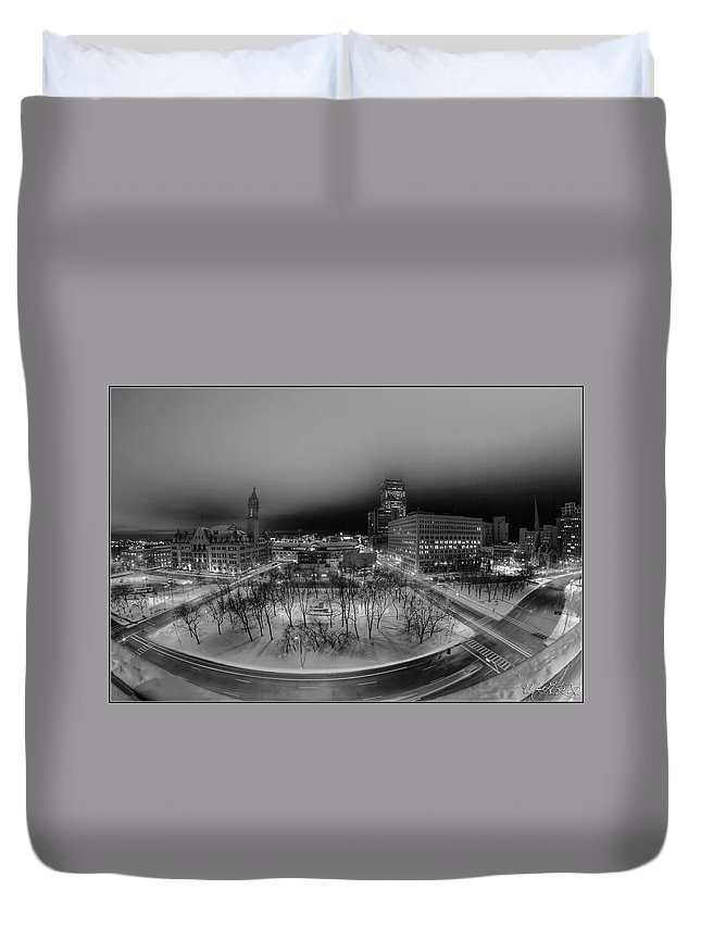 Buffalo Duvet Cover featuring the photograph Queen City Winter Wonderland After The Storm Series 0019 by Michael Frank Jr