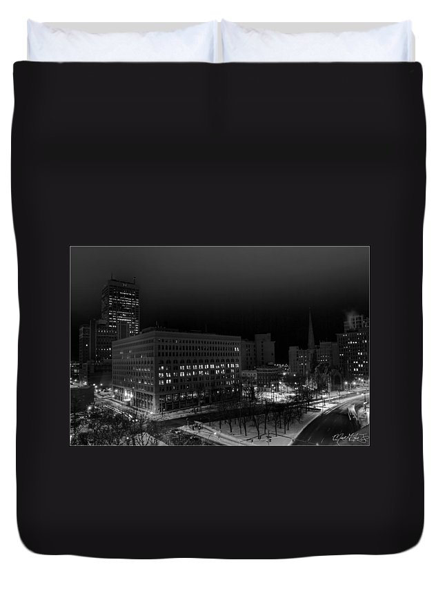 Buffalo Duvet Cover featuring the photograph Queen City Winter Wonderland After The Storm Series 0020a by Michael Frank Jr