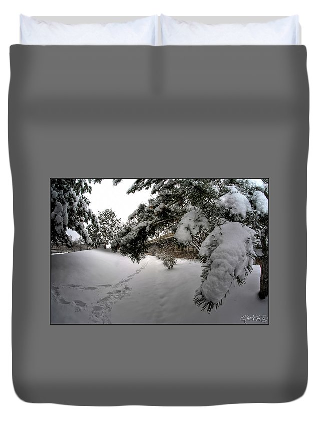 Buffalo Duvet Cover featuring the photograph Queen City Winter Wonderland After The Storm Series 0029 by Michael Frank Jr