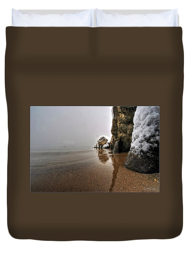 Buffalo Duvet Cover featuring the photograph Queen City Winter Wonderland After The Storm Series 0039 by Michael Frank Jr