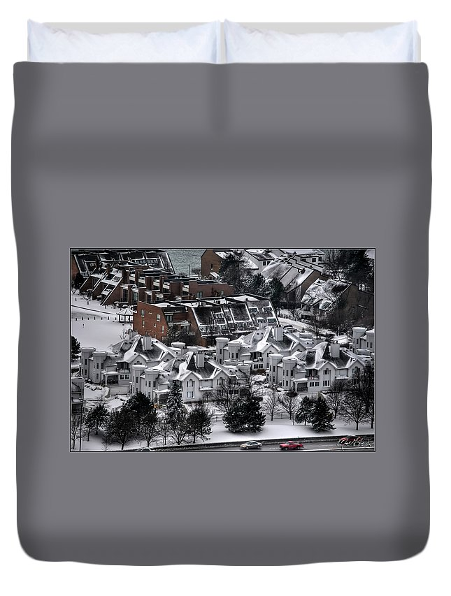 Buffalo Duvet Cover featuring the photograph Queen City Winter Wonderland After The Storm Series0028 by Michael Frank Jr