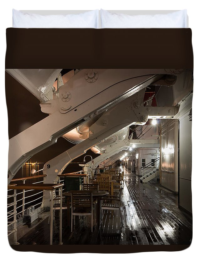 Big Duvet Cover featuring the photograph Queen Mary Sun Deck by Heidi Smith