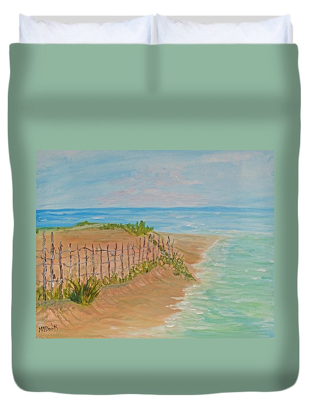 Seascape Duvet Cover featuring the painting Quick Seascape 2 by Barbara McDevitt