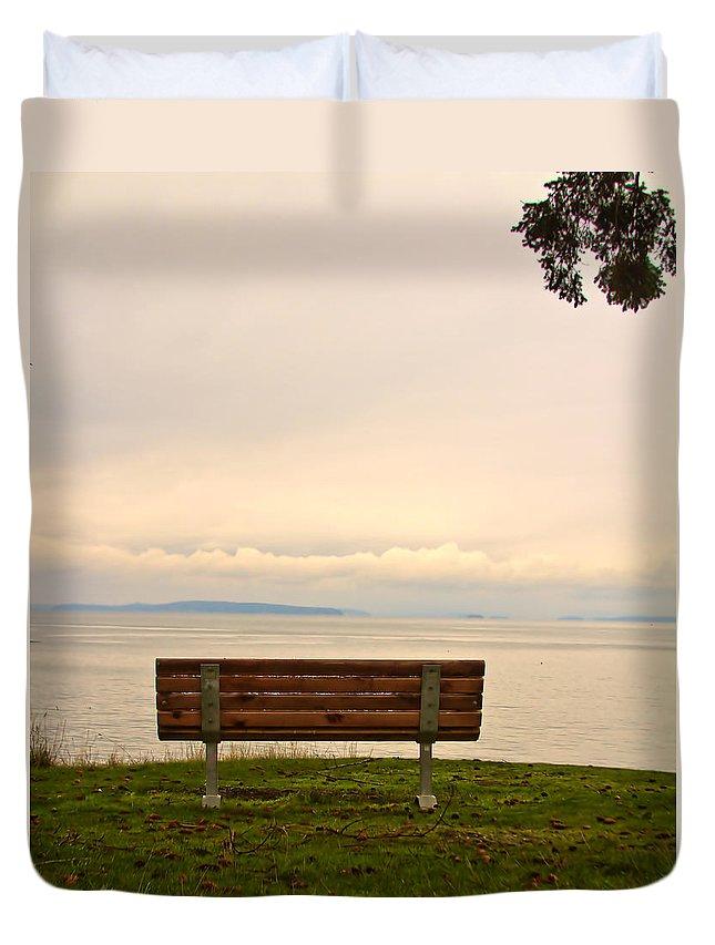 San Juan Islands Duvet Cover featuring the photograph Quiet Afternoon by Joseph Noonan