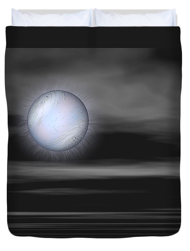 Night Duvet Cover featuring the digital art Quietly by Wendy J St Christopher
