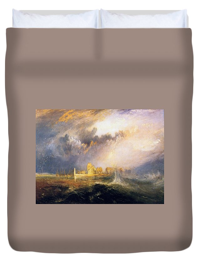 1833 Duvet Cover featuring the painting Quillebeuf - At The Mouth Of Seine by JMW Turner