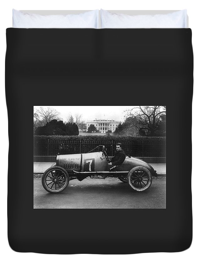 1922 Duvet Cover featuring the photograph Racecar, 1922 by Granger