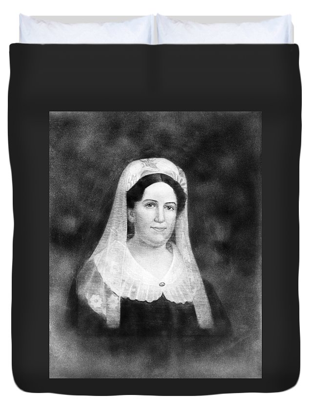19th Century Duvet Cover featuring the painting Rachel Donelson Jackson (1768-1828) by Granger