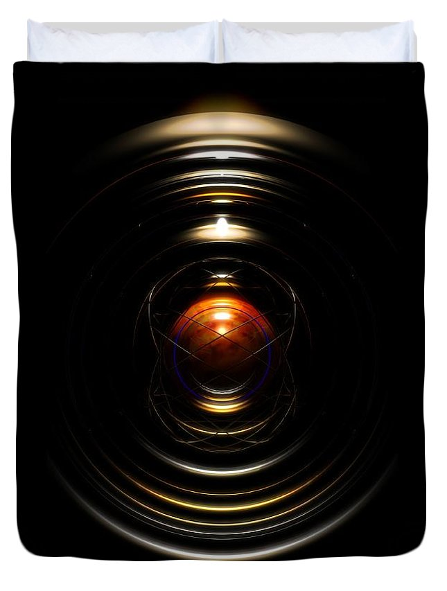 Abstract Duvet Cover featuring the digital art Radial Cage by James Kramer