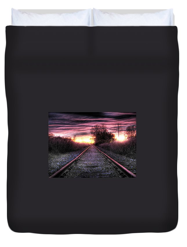 Photography Duvet Cover featuring the photograph Radiant Orchid by Jane Linders