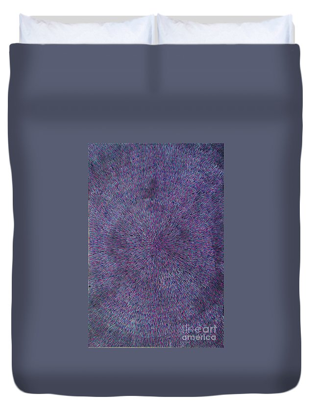 Abstract Duvet Cover featuring the painting Radiation Violet by Dean Triolo