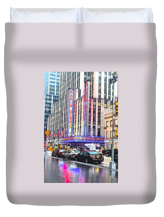New York Duvet Cover featuring the photograph Radio City Music Hall New York City - 2 by Becca Buecher