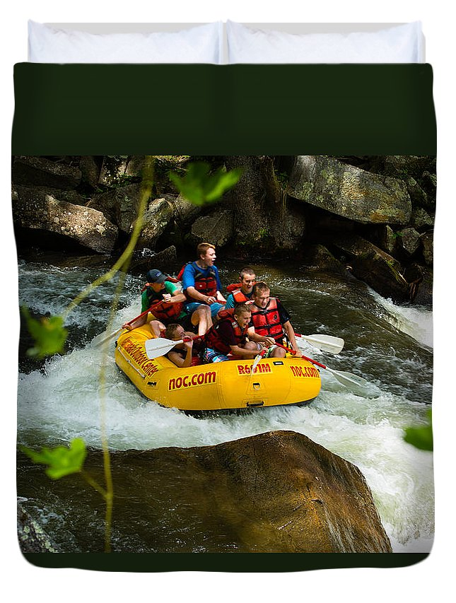 Whitewater Rafting Duvet Cover featuring the photograph Rafting Bliss by Christy Cox