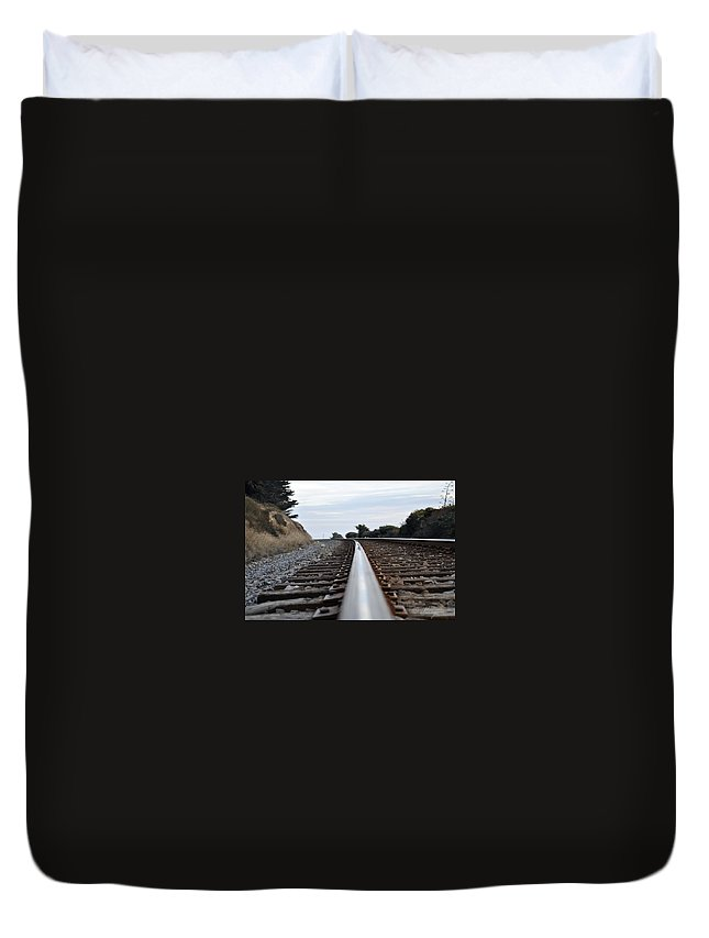 Unknow Direction Duvet Cover featuring the photograph Rail Rode by Gandz Photography
