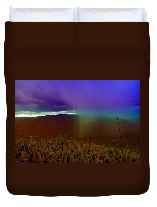 Rain Duvet Cover featuring the photograph Rain North Of Bonners Ferry by Jeff Swan