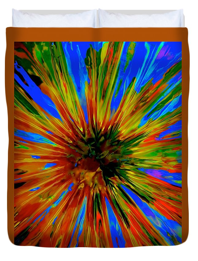 Rainbow Duvet Cover featuring the photograph Rainbow Exuberance by Tim G Ross