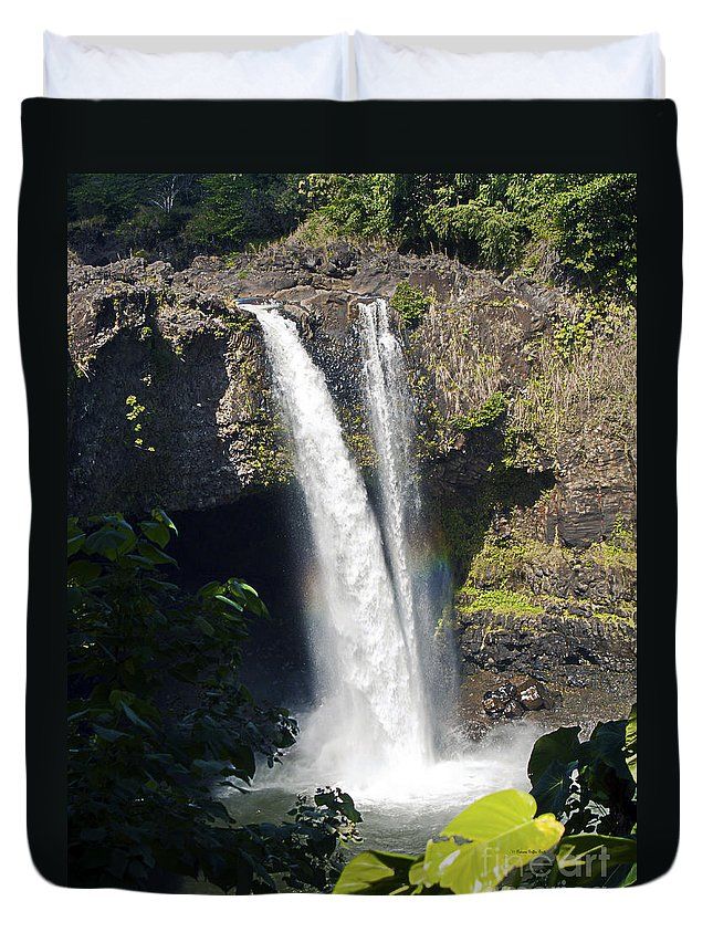 Fine Art Photography Duvet Cover featuring the photograph Rainbow Falls IIi by Patricia Griffin Brett