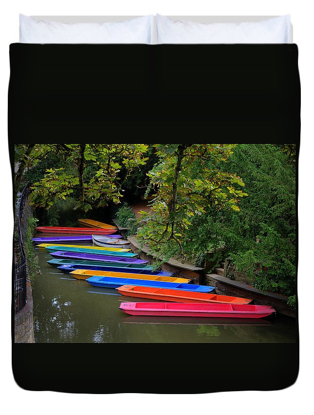 Rainbow Duvet Cover featuring the photograph Rainbow River by Mick House