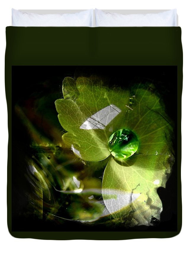 Water Duvet Cover featuring the photograph Raindrop by Nick Kloepping