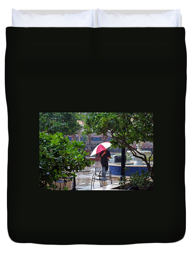 Rain Duvet Cover featuring the photograph Rainy Day by Joseph Schofield
