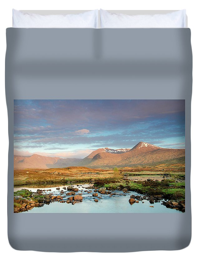 Scenics Duvet Cover featuring the photograph Rannoch Moor by Mike Dow Photography