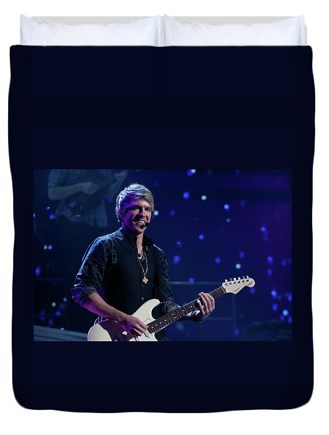 Rascal Flatts Duvet Cover featuring the photograph Rascal Flatts 4991 by Timothy Bischoff