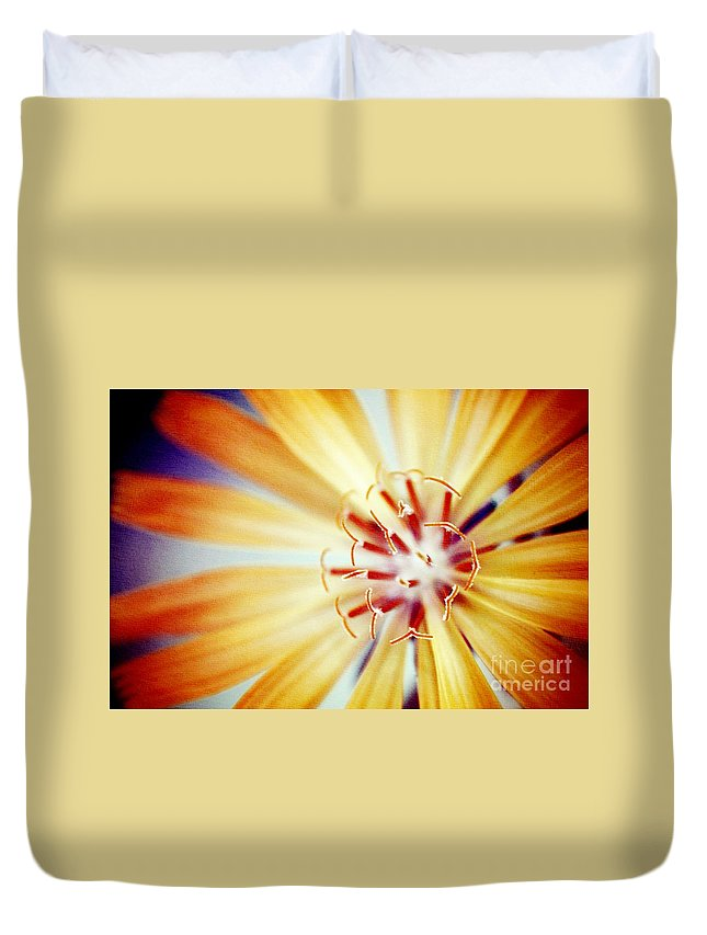 Flower Duvet Cover featuring the photograph Rays Of Joy - S01-21at1c by Variance Collections