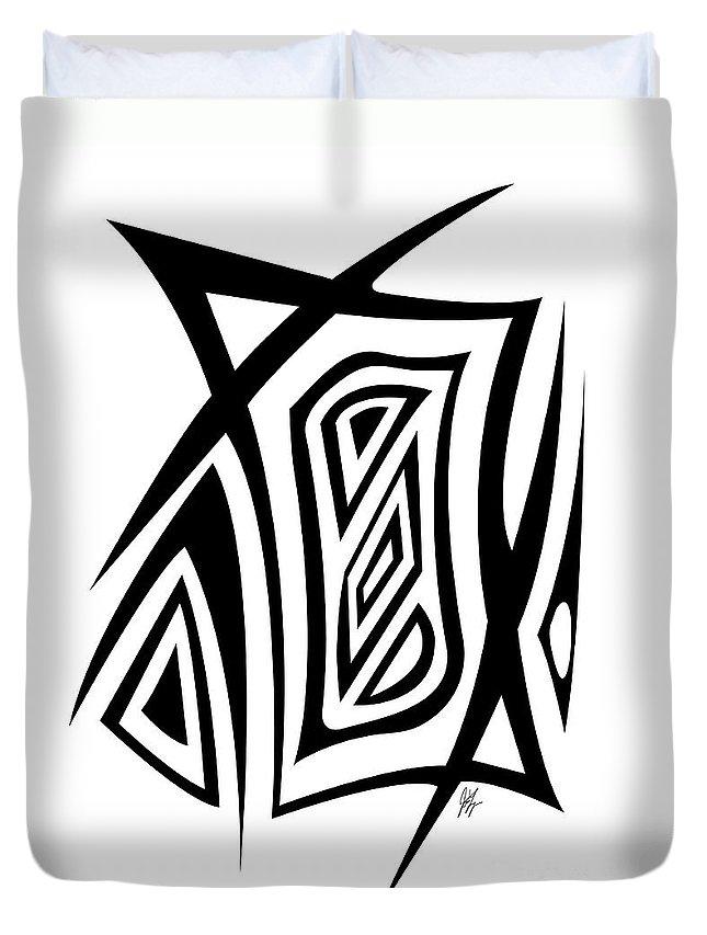 Jamie Lynn Gabrich Duvet Cover featuring the digital art Razer Blade by Jamie Lynn