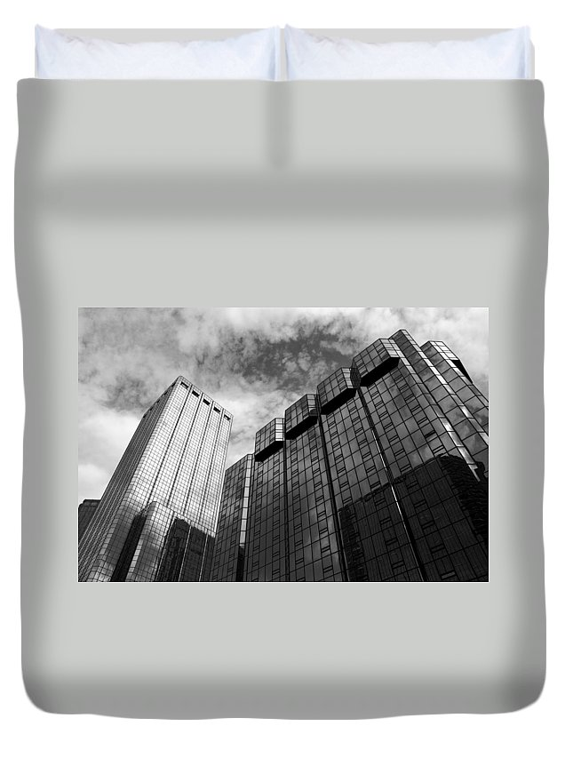Building Duvet Cover featuring the photograph Reach For The Sky by Beverly Stapleton