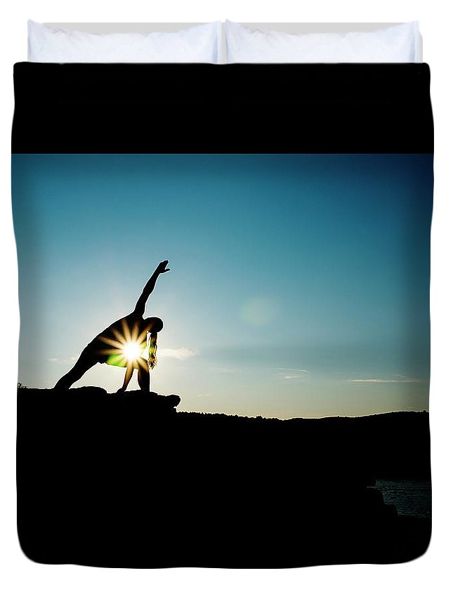 Funky Duvet Cover featuring the photograph Reach For The Sky by Subman