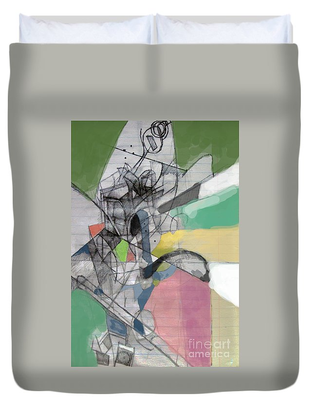 Torah Duvet Cover featuring the digital art Reaching A Settled Peace 2c by David Baruch Wolk