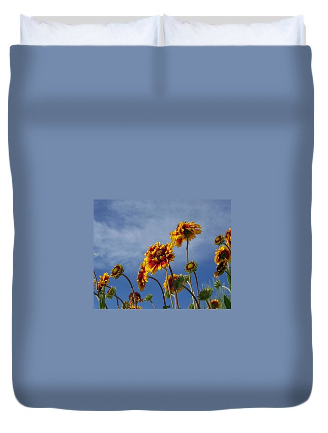 Flora Duvet Cover featuring the photograph Reaching For The Sky by Ernie Echols