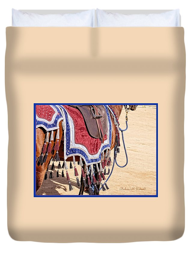 Horses Duvet Cover featuring the photograph Ready For The Competition by Barbara Zahno