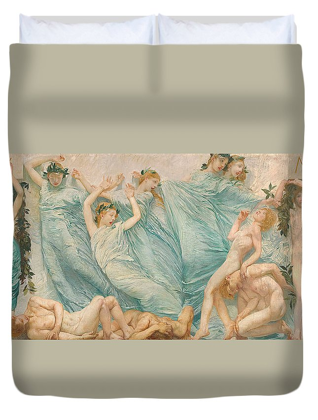 Reawakening Duvet Cover featuring the painting Reawakening by Sartorio Giulio Aristide