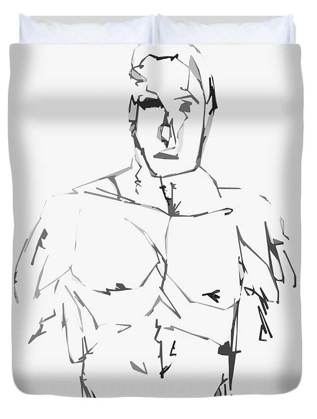 Art Duvet Cover featuring the drawing Rebuild Me by The Artist Project