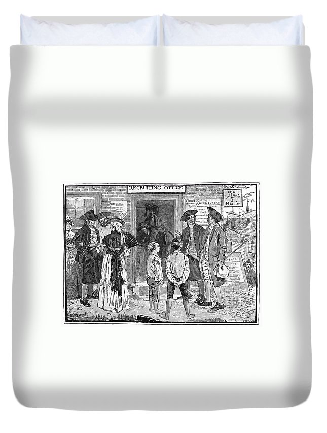 1778 Duvet Cover featuring the photograph Recruitment, C1778 by Granger