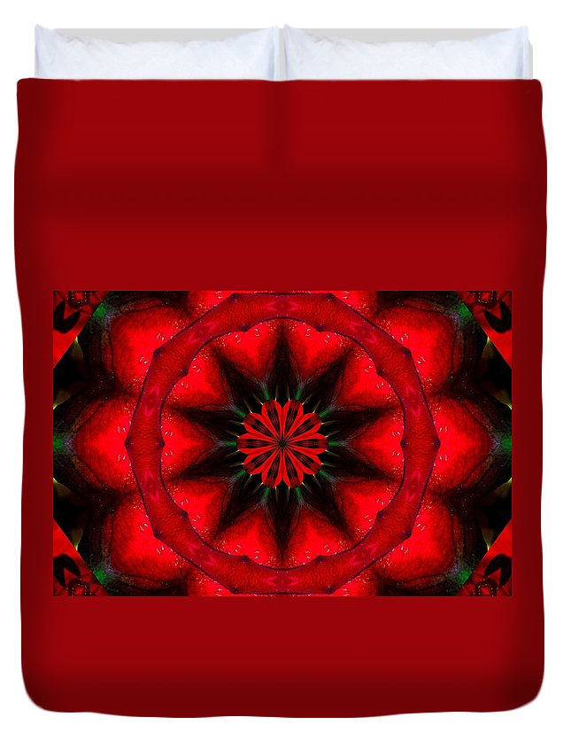 Eden Digital Art Duvet Cover featuring the photograph Red And Black by Richard Zentner
