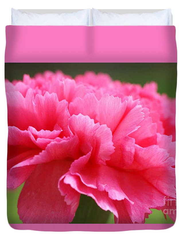 Carnation Duvet Cover featuring the photograph Red Carnation by Carol Lynch
