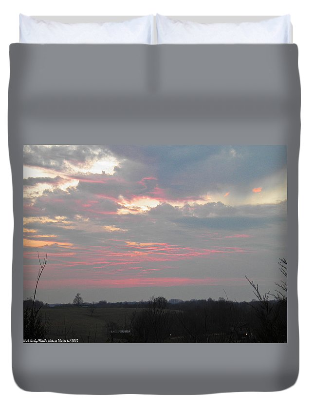 Sunset Duvet Cover featuring the photograph Red Cloud by Nick Kirby