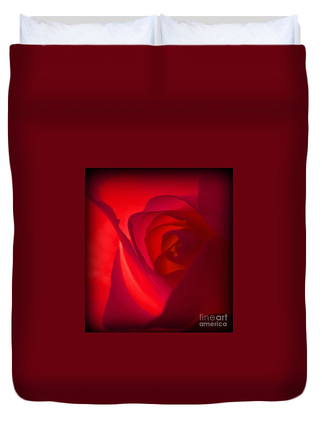 Red Duvet Cover featuring the photograph Red Dawn by C Ray Roth