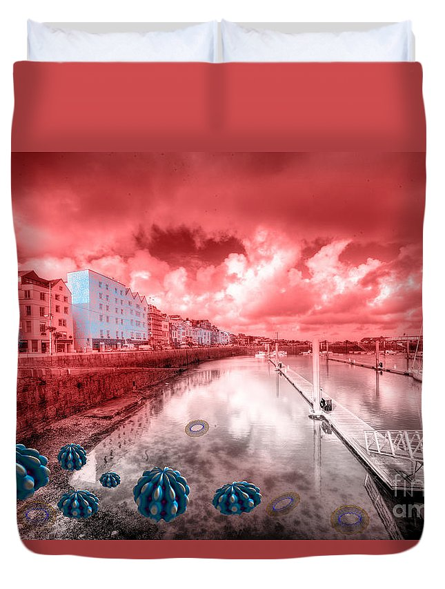 St Duvet Cover featuring the photograph Red Harbouring by Rob Hawkins