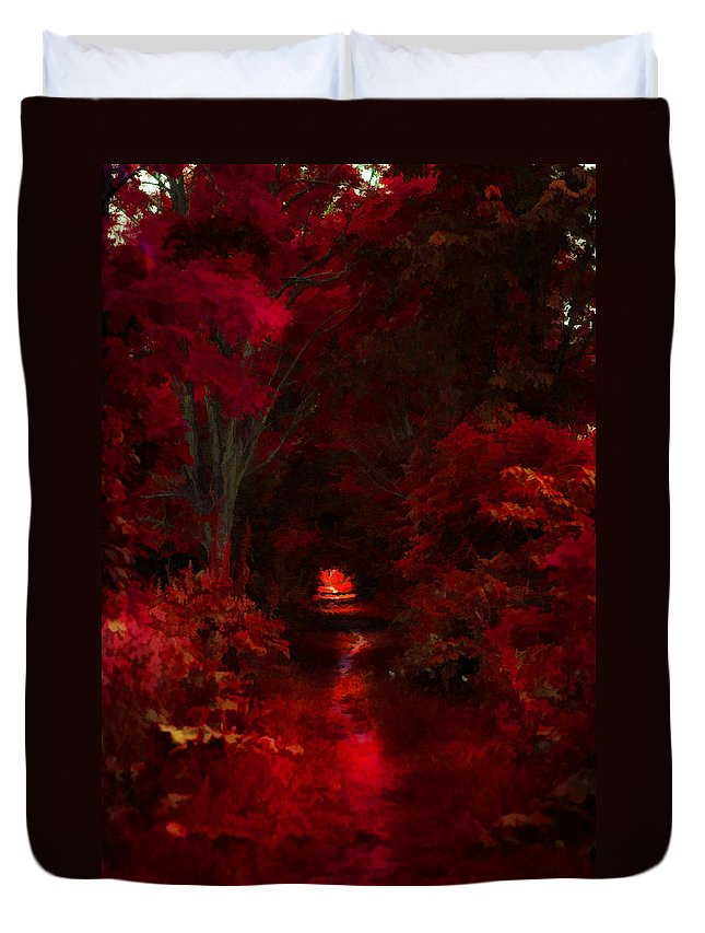Trees Duvet Cover featuring the photograph Red IIi by Tina Baxter