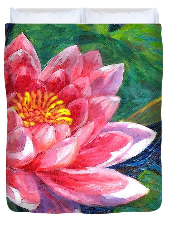 Red Lotus Flower Duvet Cover For Sale By Mon Fagtanac