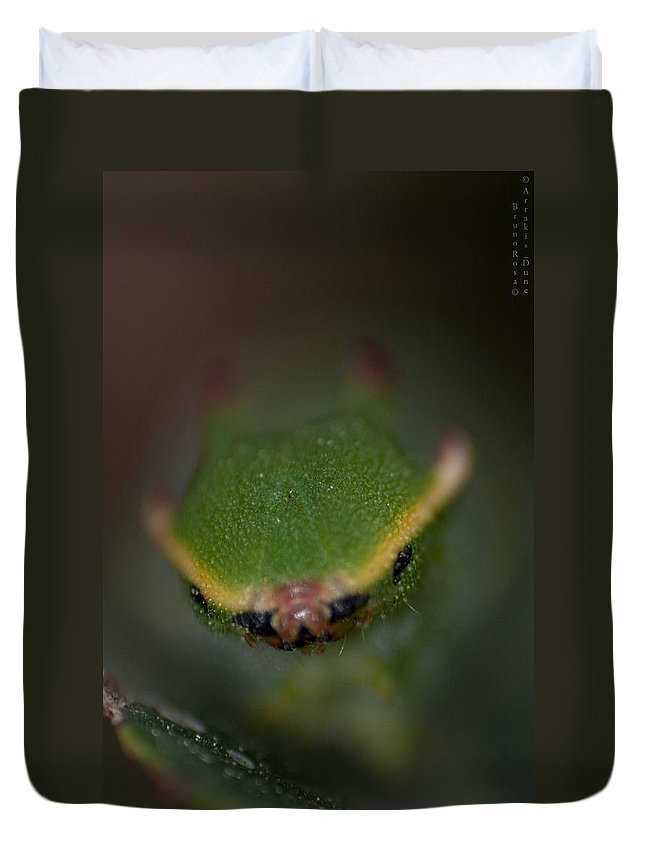 Macro Duvet Cover featuring the photograph Red Nose by Bruno Rosa