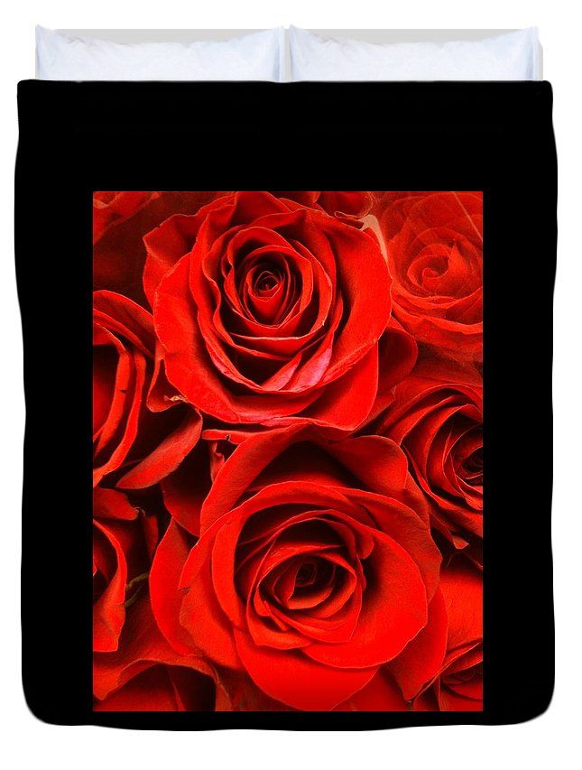 Art Photography Duvet Cover featuring the photograph Red Red Rose by Cynthia Garcia-Ericsson